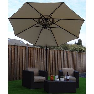 SORARA Outdoor Living Sonnenschirm Ampelschirm | Beige / Sand Ø 300 cm