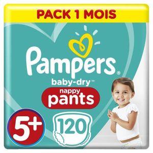 Pampers Active Baby-Dry 81687765, Junge/Mädchen, 5+, Hosenwindel, Mehrfarbig, 12 h, Polyacrylate, Polypropylene, Cellulose, Adhesives, Polyethylene, Polyester, Elastics, Lotion,...