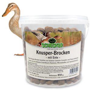 Knusper-Brocken mit Ente wertvolle Cerealien Calcium Vitaminen hochwertig Eimer