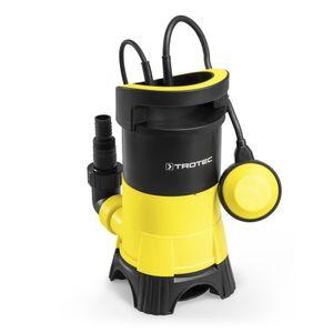 TROTEC  Schmutzwasser-Tauchpumpe TWP 4025 E, 400 Watt Leistung, bis zu 7.500 Liter Wasser (max. 5 m Tiefe) , Fremdkörper bis 25 mm, Automatisches Ein- und Ausschalten
