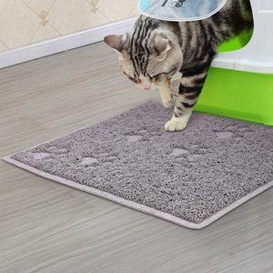 Katzenstreu Matte  40 x 30cm, Katzenklo Matte Wasserdicht, Weich für die Pfoten, Leicht zu reinigen