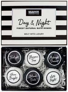 "6er Set Badebomben BRUBAKER Cosmetics ""Day & Night"" - Handgemacht - Vegan - Glutenfrei - Parabenfrei"