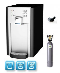Auftisch-Tafelwasseranlage BLUE DIAMOND 1.0 (Option CO2 Eigentumsflasche: 2kg CO2 Flasche)