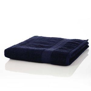 Lumaland Premium Saunatuch 90 x 200 cm 100 % Baumwolle 550 g/m² komfortables Handtuch für Damen und Herren navy blau