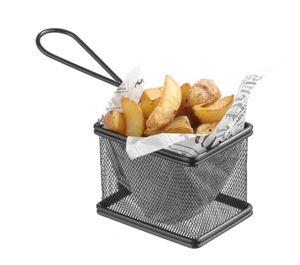 HENDI Miniatur-Frittierkörbe Schwarz 90x90 mm mini