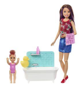 """Barbie """"Skipper Babysitters Inc."""" Puppen und Bad Spielset"""