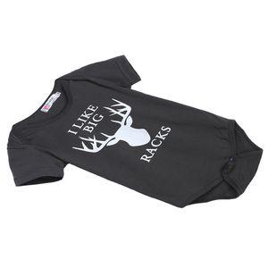 Säugling Baby Mädchen Spielanzug Overall Bodysuit Outfit Sonnencreme 0-6 Monate Hirsch Drucken