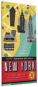 City Scratch-Off Map: New York