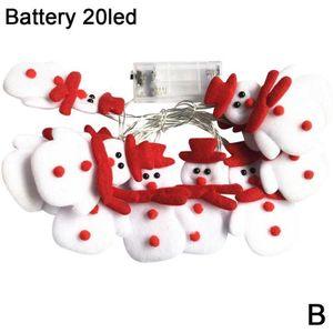 20 LED Batterie Weihnachts-Schneemann-Lichterketten
