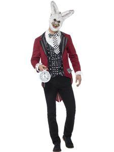 SMI - Herren Kostüm böser weißer Hase mit Maske Halloween Gr.L