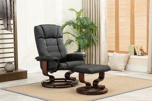 MCombo Relaxsessel Fernsehsessel TV Sessel kippbar mit Hocker Holzfüße