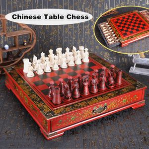 Chinesisch Figur Edles Schachspiel Schach Holz Harz Handarbeit Brett Figuren