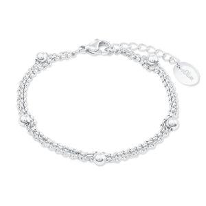 s.Oliver 2022713 Damen Armband Edelstahl Silber 20 cm