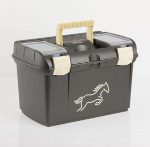 USG Putzkiste Putzbox Pferdeputzkiste Pferdeputzbox metallic schwarz / beige
