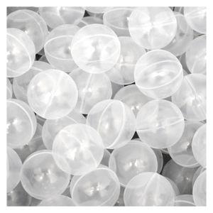 50 Bälle für Bällebad 5,5cm Babybälle Plastikbälle Baby Spielbälle Transparent