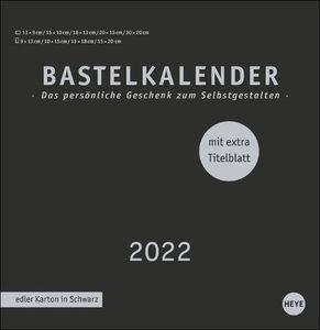 Bastelkalender 2022 schwarz, groß