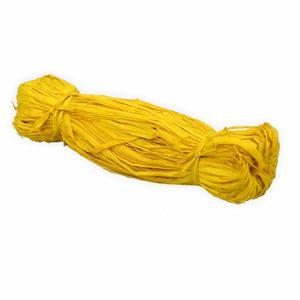 Creleo - Bast Raffia 50g gelb Naturbast zum basteln