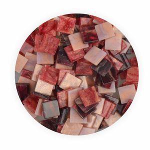 Creleo - Mosaiksteine 10x10mm Glitter Mix rot 190 Stück 45 g
