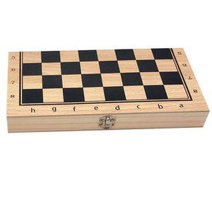 Internationale Schach Schachspiel Pädagogische Spielzeug für Kinder Erwachsene 34x34cm Schwarz + Weiß
