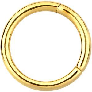 Wildcat Septum Clicker Hinged Ring Gold 750 Piercing 1,2mm Stärke unterschiedliche Durchmesser 08
