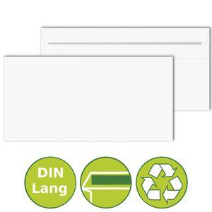 50 x Briefumschläge Kuverts DIN Lang selbstklebend 110x220mm Weiß