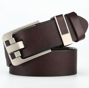 Herren Gürtel Ledergürtel für Jeans Echtleder Business Anzug Dornschließe Neu