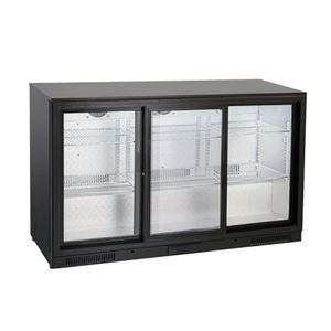 Barkühlschränk mit 3 Schiebetüren 302 Liter, 1335 x 526 x 865 mm