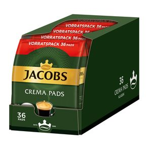 JACOBS Crema Klassisch 5er Pack Kaffee Pads  5 x 36 Getränke Vorratspackung
