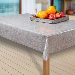 Wachstuch-Tischdecke Wachstischdecke Tischwäsche Abwaschbar Wachstuchdecke EZ, Muster:Unifarben grau/hellgrau, Größe:80-80 cm