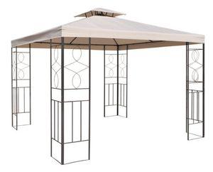 Pavillondach 3x3m Ersatzdach Wasserdicht Dach für Pavillion mit Kamin