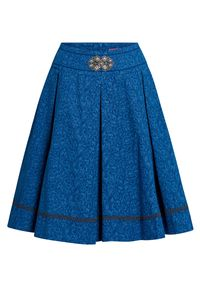 Lieblingsgwand Trachtenrock mini 60 cm blau geblümt Felizitas 011420 Größe: 36