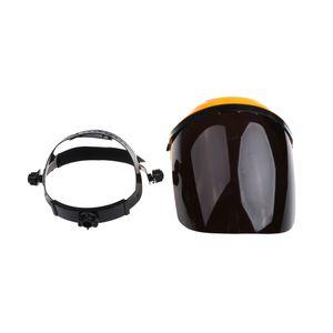 Schweißhelm Schleifkopf Schweißermaske Stoßfester Gesichtsschutz Kopfschutz Farbe Schwarz