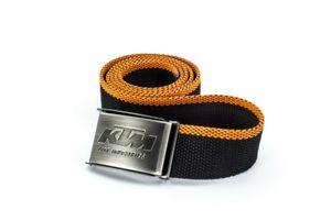 KTM Factory Team Gürtel mit Metallschnalle in schwarz orange Länge 125 cm