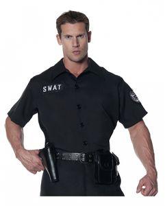 SWAT Hemd - Schwarz/Kurzärmlig als Kostüm Accessoire Größe: XXL