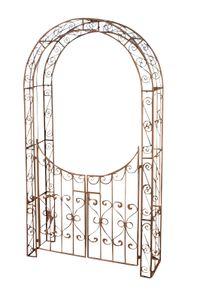CLP Rosenbogen m. Tor Sina, Farbe:antik braun