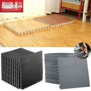 30-tlg Bodenschutzmatten Set Unterlegmatten Bodenschutz Schutzmatten Puzzlematte, Grau, 30*30cm