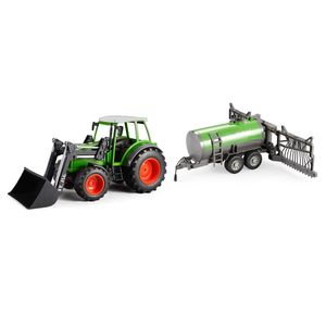 efaso Double E E356-003 RC Traktor mit Schaufel 2,4GHz 1:16 RC Trecker mit Schaufel + Sprühanhänger S058-003