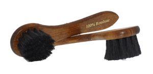 Solitaire Eincremebürste - echtes Rosshaar - Schuhbürste -  Schwarz