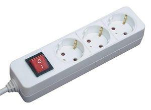 Brennenstuhl Steckdosenleiste Tischsteckdose 3-fach mit Schalter weiß