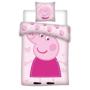 Peppa Wutz Rosa - Baby Bettwäsche - Set 100x135 40x60cm