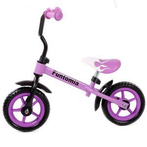 Farbe Schwarz/Lila FunTomia® Laufrad Lernrad Fahrrad höhenverstellbar - 2281