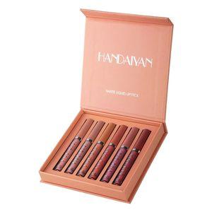1 Set Matte Samt Lip Gloss Langlebige Nicht-Stick Flüssigkeit Lippenstift & Ges Mini einstellen Farbe B. Farbe A.