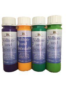 4x250ml Meffert Vollton- und Abtönfarbe 1 Liter Farbwahl, Farbe:laubgrün