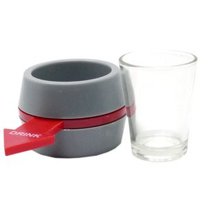 Free and Easy trinkspiel Shot Spinner 10 cm rot