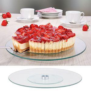 Drehbare Kuchen-Servier-Platte Ø 30 cm Glas