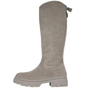Tamaris Damen Stiefel Leder Langschaft 1-25622-27, Größe:41 EU, Farbe:Grau