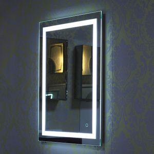 LED Badspiegel  Badezimmerspiegel  Badspiegel mit Beleuchtung 50*70cm weiß-OV