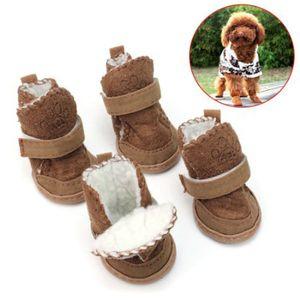 DOG BOOT Wasserdichte rutschfeste Haustierschuhe Boot Classic Warm Dog Schuhe BW4