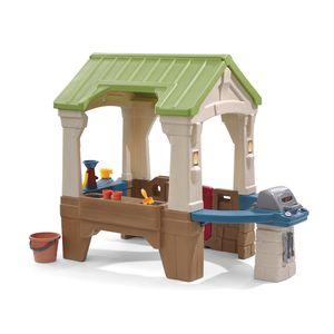 Step2 Great Outdoors Spielhaus   XXL Kunststoff Spielhaus für Kinder mit Grill, Wasserrad und Zubehör