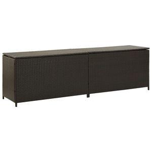 vidaXL Gartenbox Poly Rattan 200x50x60 cm Braun